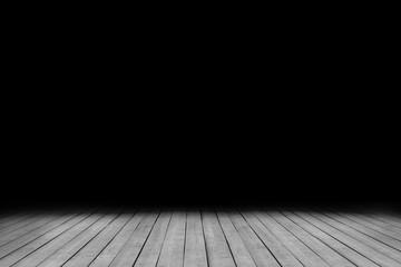 image grunge dark room with wood floor