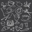 Doodle Illustrations of Coffeeshop