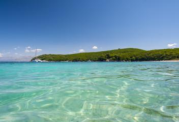 avlaki beach corfu, greece