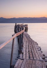 wooden pier, greece