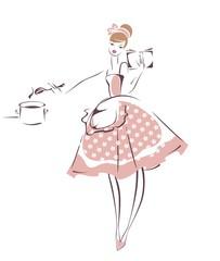 Ретро домохозяйка
