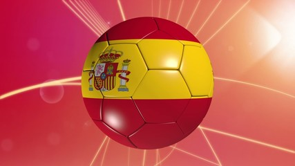 Spanish flagged football.