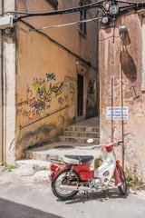 scooter on greek street