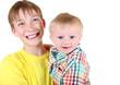 Happy Kid and Baby Boy