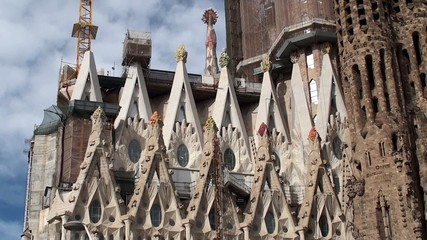 Types of Sagrada Familia. Nativity (East side) facade. Barcelona
