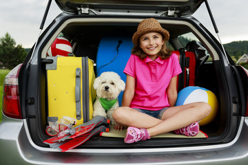 Summer vacation - family ready for the travel
