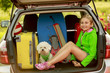 Summer vacation - young girl ready for the travel