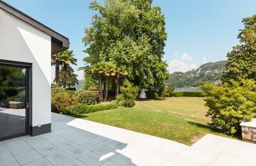 white villa, patio