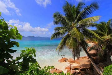 Plage, La Digue, Seychelles