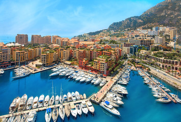View of  Monaco harbour, Cote d'Azur