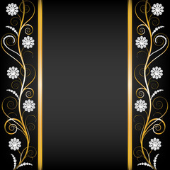 border with pearls
