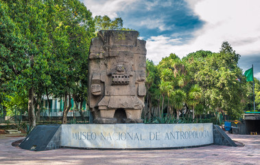 Entrance to the National Museum of Anthropology in Mexico city
