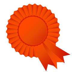 Rosette ribbon, dark orange
