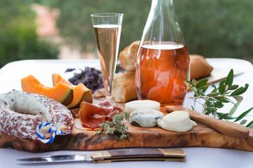 cheese- ham plate A la Provence