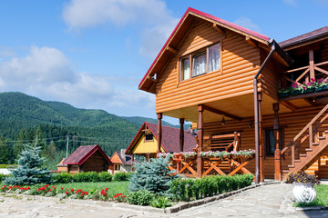 Hotel in Carpatian Mountains. Ukraine.