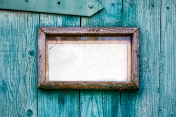 Old wooden frame closeup.