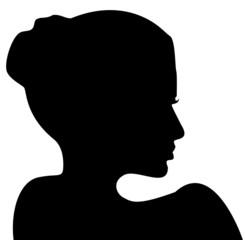profil visage féminin