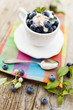 canvas print picture - Blueberries - summer delights
