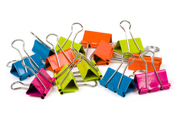 Heap of binder clips