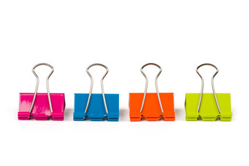 Four binder clips