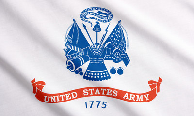 Waving flag of US Army