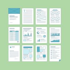 Set of business A4 documentation templates