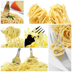 long pasta collage