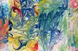 canvas print picture - Marmorierte Papiere