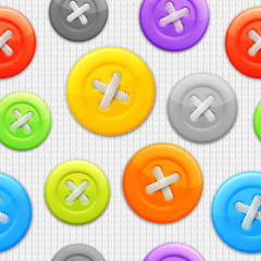 Seamless pattern of color clothing buttons.