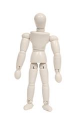 Plastic figure isolated