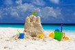 Sand castle on the beach - 68364486
