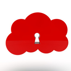 red cloud of data