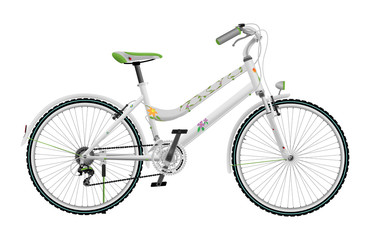 Lady's white bike