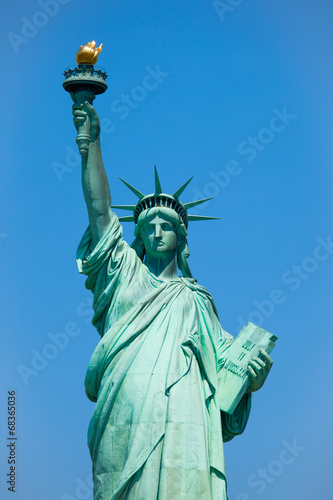 Deurstickers Standbeeld Statue of liberty