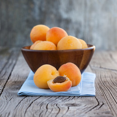 Fresh and tasty apricots