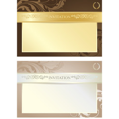 Vector Invitation Cards