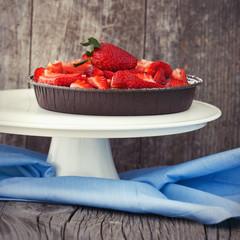 Sweet strawberry cake
