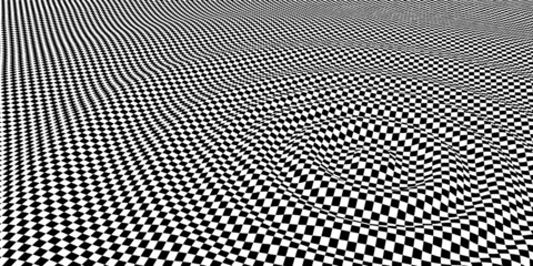 wave on checker