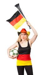beautiful german soccer fan