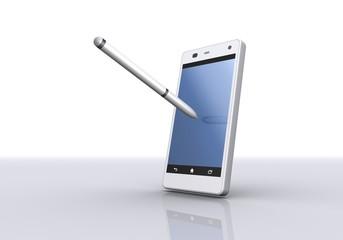 スマートフォンとペン