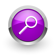 search pink glossy web icon