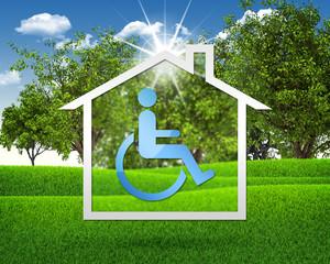 House icon with handicap symbol