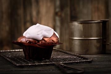 Cupcake aus Schokolade