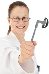 Arzt mit Reflexhammer