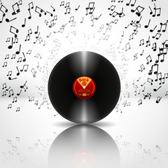 Music Background with Vinyl - Vector © marekkulhavy012
