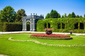 Schonbrunn Palace Gazebo inside a floral garden