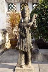 Statue chinese doll  Wat Thepthidaramvaraviharn Temple