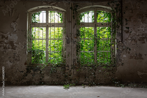 canvas print picture Abandoned House