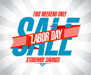 Labor day sale retro design.
