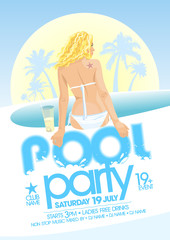 Pool party design.